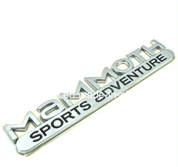 China Chrome Abs Car Badges With Custom Letters China Car Badge