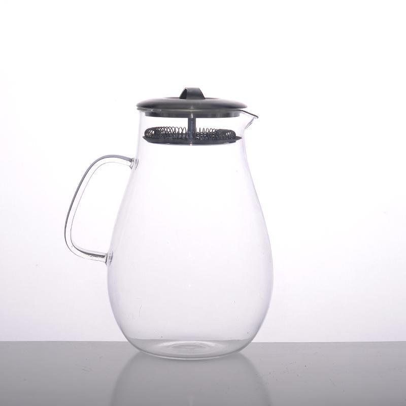 Borosilicate Water Jug with Metal Lid and Filter