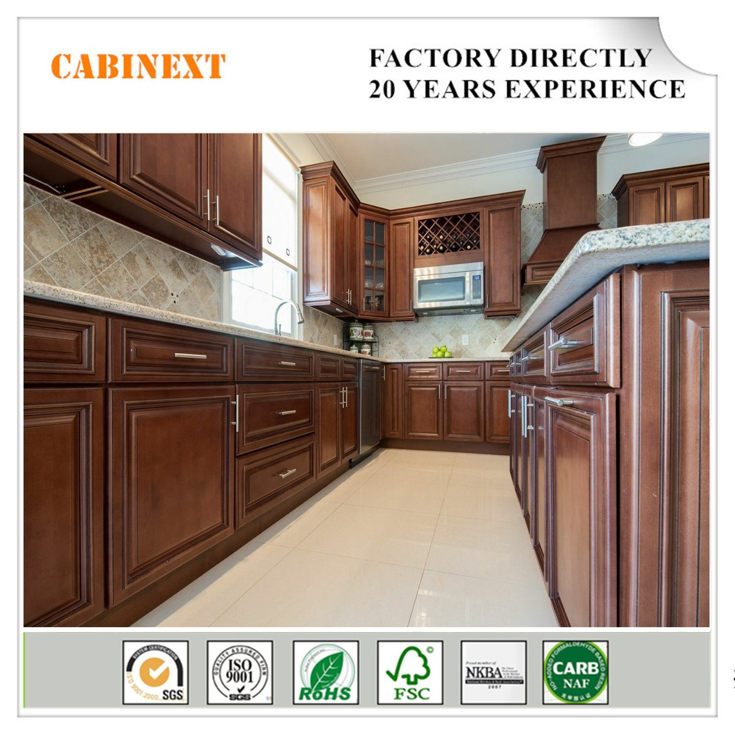 China Factory Customized Modern Designs Kitchen Cabinets For