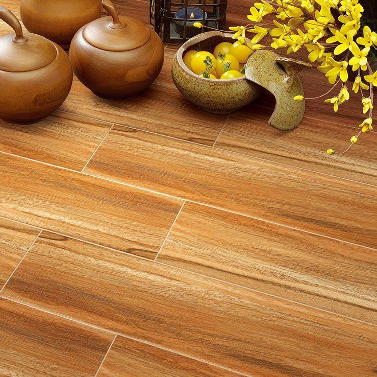 Hot Item Livingroom Non Slip 150800mm Wooden Texture Ceramic Floor Tile