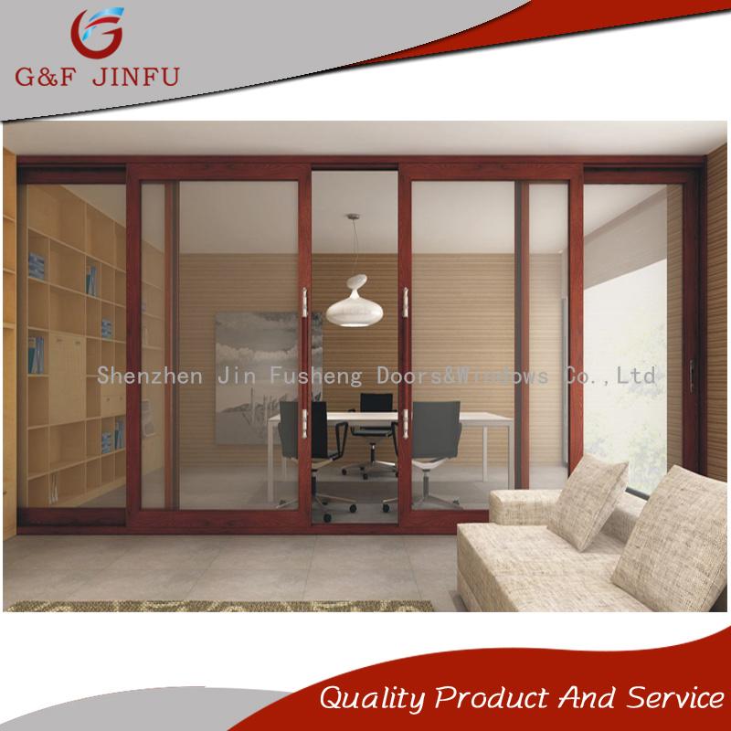 China Heavy Duty Aluminium Soundproof Sliding Door With Double Tempered Glass