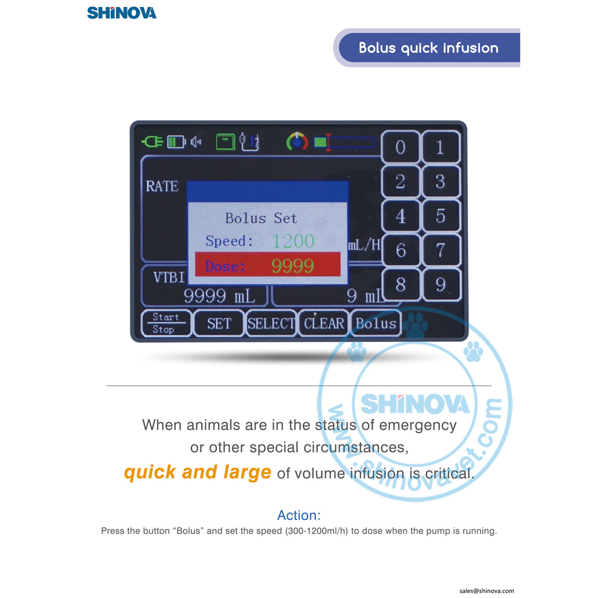 Veterinary Infusion Pump with Heating Function (Infula 102V)