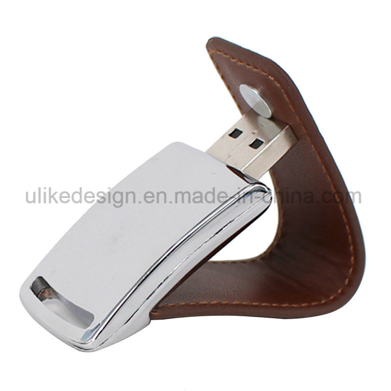 Promotion Gift USB Flash Diver Leather Style pictures & photos
