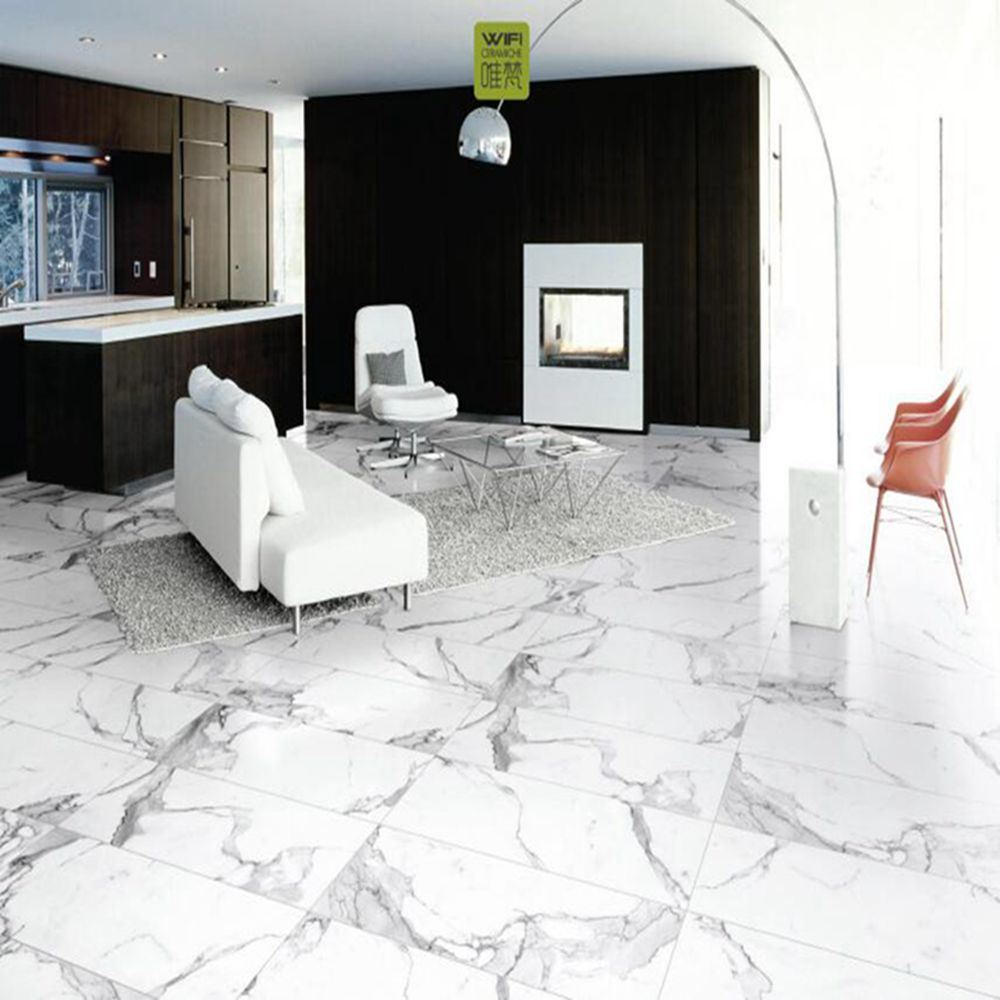 China Thickness 11.2mm Gloosy Building Material White Marble ...