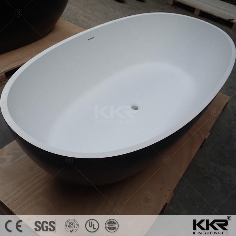 China Bathroom Man Made Stone Freestanding Hot Bath Tub Photos ...