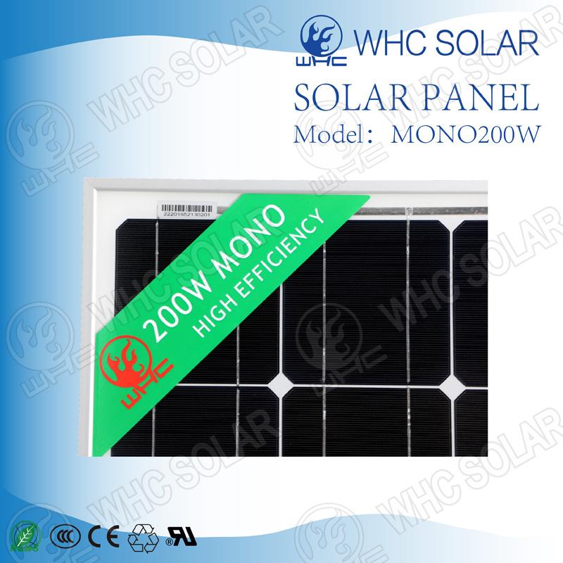 China Whc Solar Cell 200W Solar Energy Panel for Home Solar Photos ...