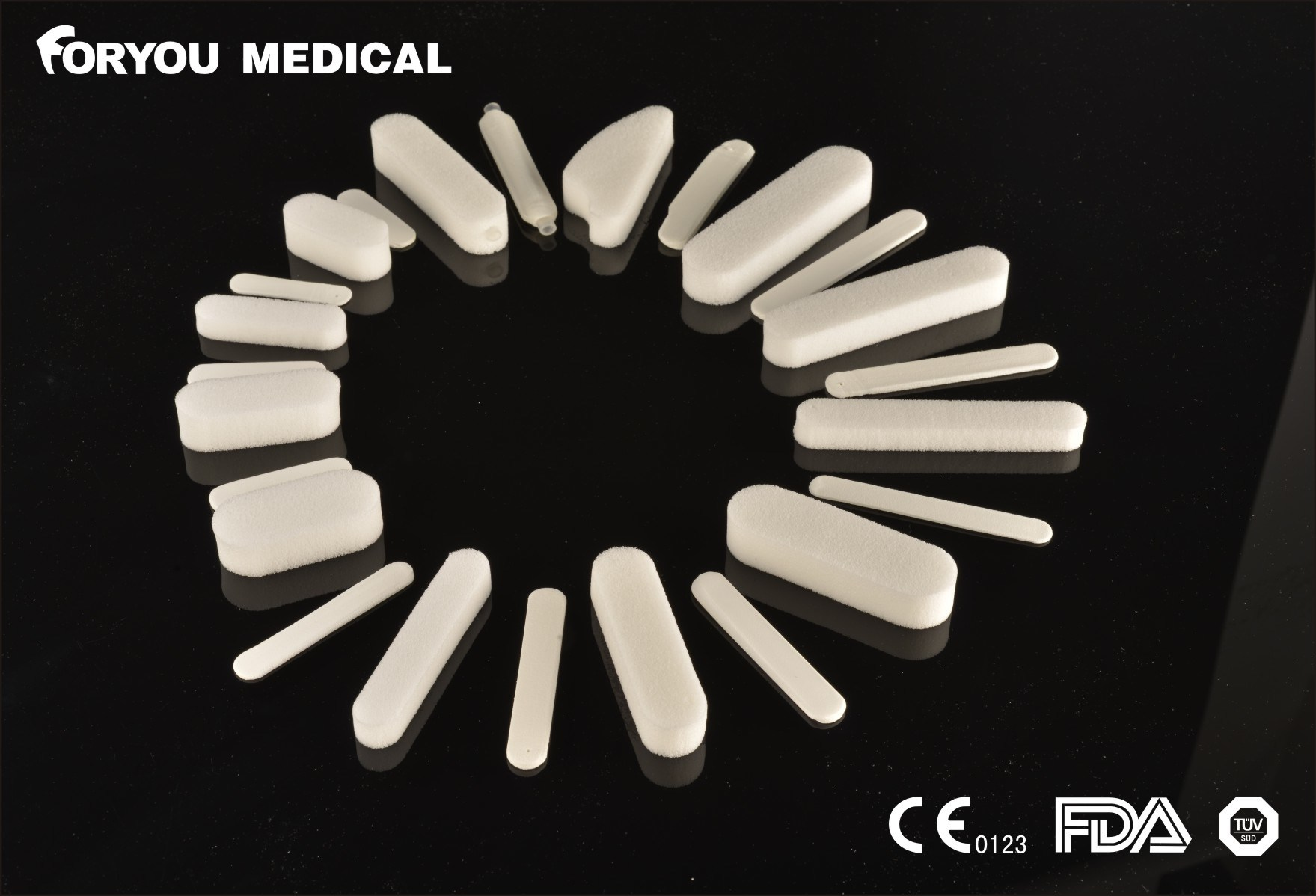 Surgical Dressing CE FDA PVA Sponge Nasal Hemostatic Dressing pictures & photos