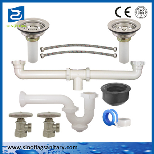 China Good Quality Kitchen Accessories Plastic Siphon Sink Waste Kit China Plastic Siphon Set Plumbing Traps