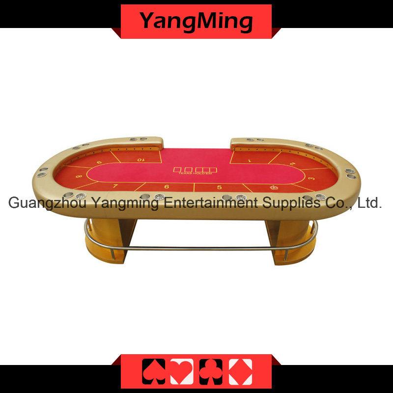 Admirable Hot Item Gold Led Texas Poker Casino Table Ym Tb015 Beutiful Home Inspiration Xortanetmahrainfo