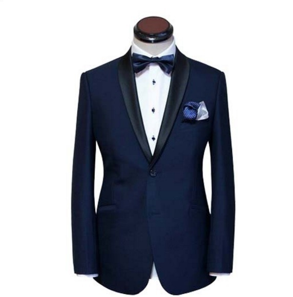 Men′s Black Tuxedo Suit with Slim Fit
