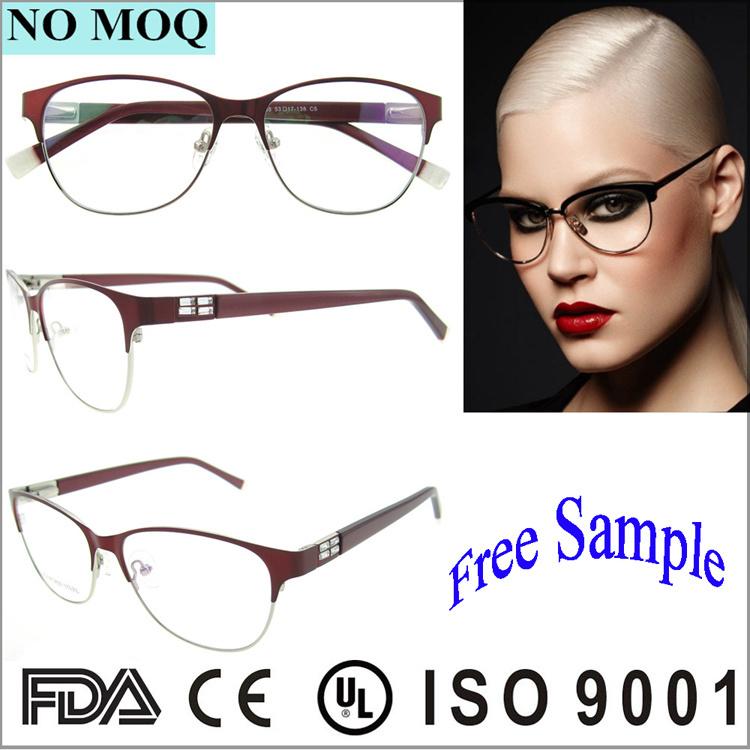 China No MOQ Wholesale Bright Color Metal Glasses Frames Girls ...