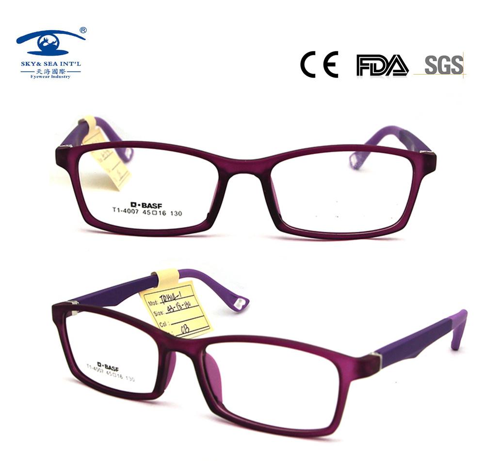 [Hot Item] Fashion Pes Kids Glasses Frame Students Optical Frame Anti-Slip  Nose Pads Eyewear (TR1314)