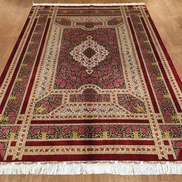 Hand Made Silk Persian Rugs 6 X 9