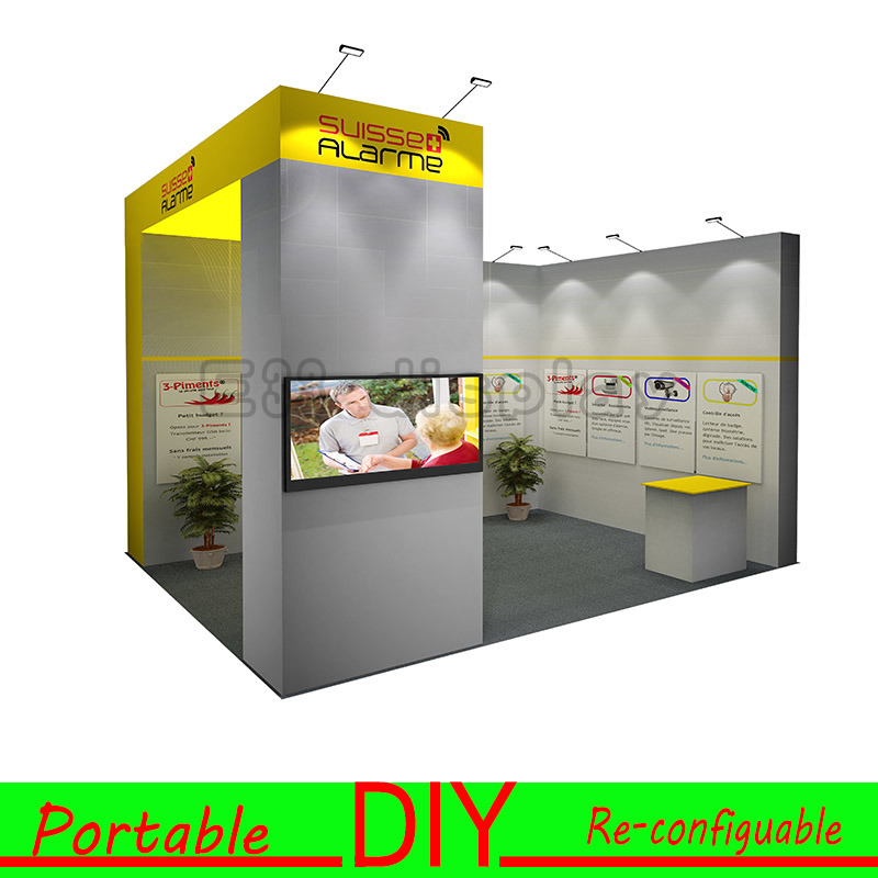 Exhibition Booth Manufacturer China : China customisable portable re configurable trade show