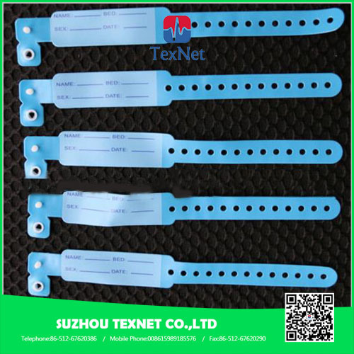 Adjustable Hospital Identification PVC Wristbands for Baby Born