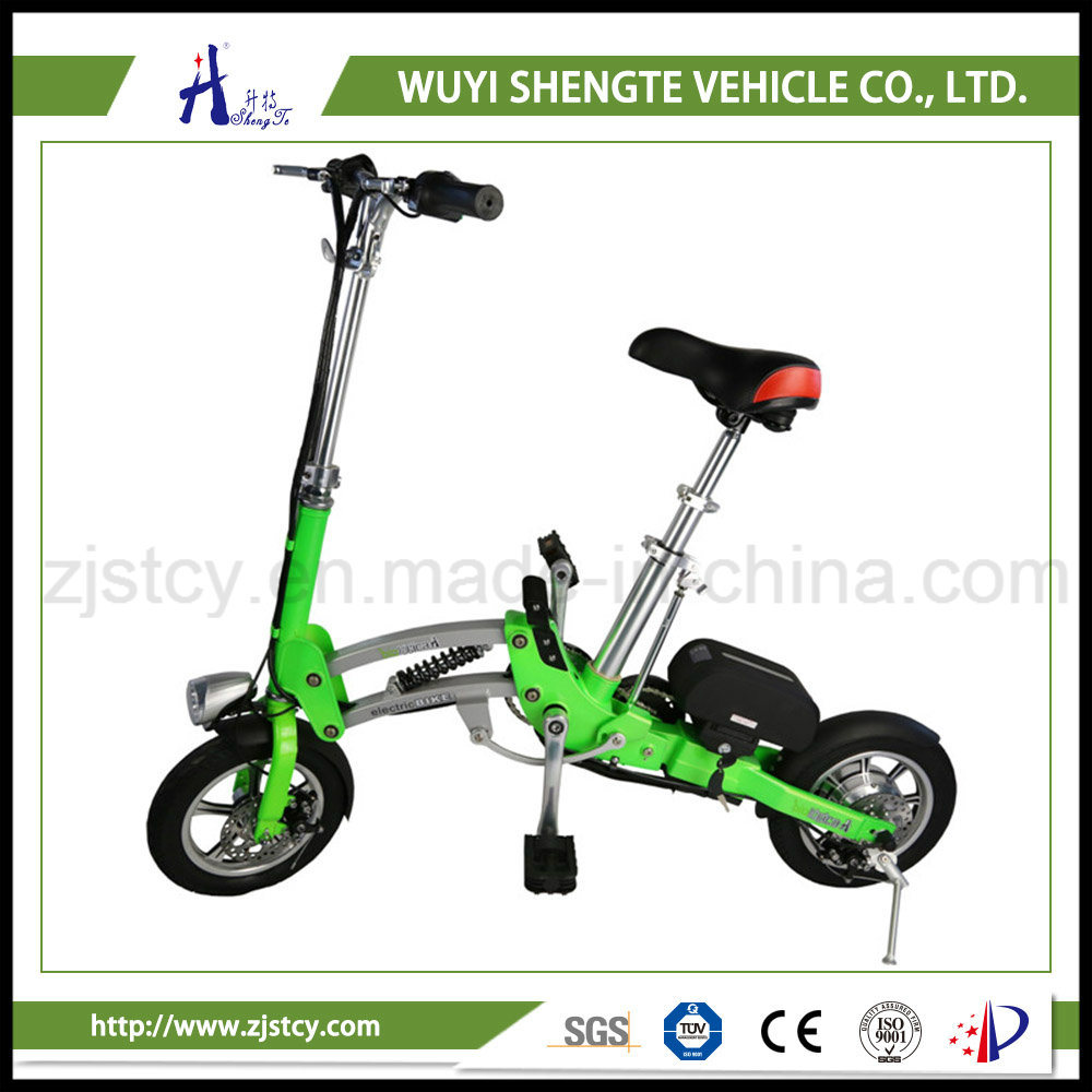 High Quality Red Ladies Small Folding Electric Bicycle
