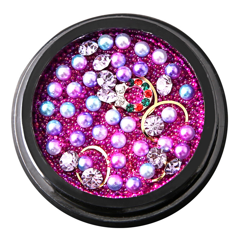 China Beauty Lady Fashion Nails 3D Gems Mixed Decoration Beads Metal ...