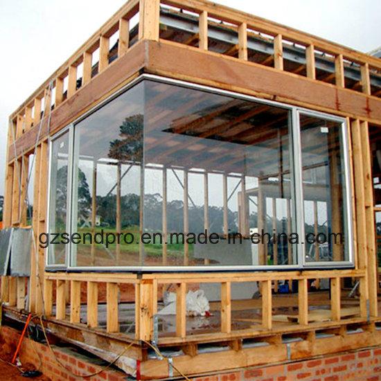 China New Design Aluminum Frame Fixed Large Corner Glass