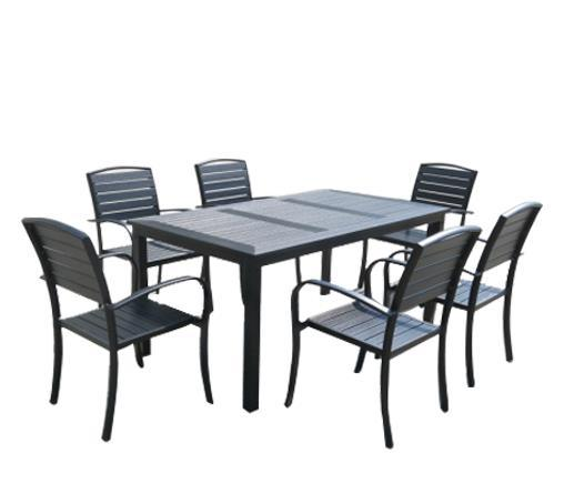 Wholesales Outdoor Plywood Metal Dining Set Aluminum Embossing Restaurant  Furniture - Wholesale Outdoor Furniture - Buy Reliable Outdoor Furniture From