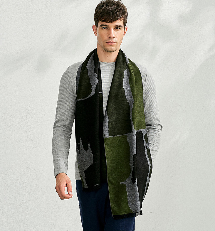9a911bfd4 China Fashion Brushed Silk Winter Scarf for Men - China Silk Scarf, Winter  Scarf