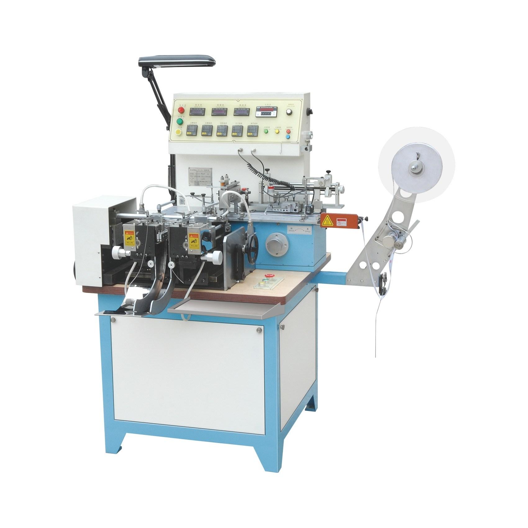 China Label Cutting and Folding Machine for Silk Ribbon Clothing Wash Care  Label Jzb-2817 - China Cutting Machine, Label Cutting and Folding Machine