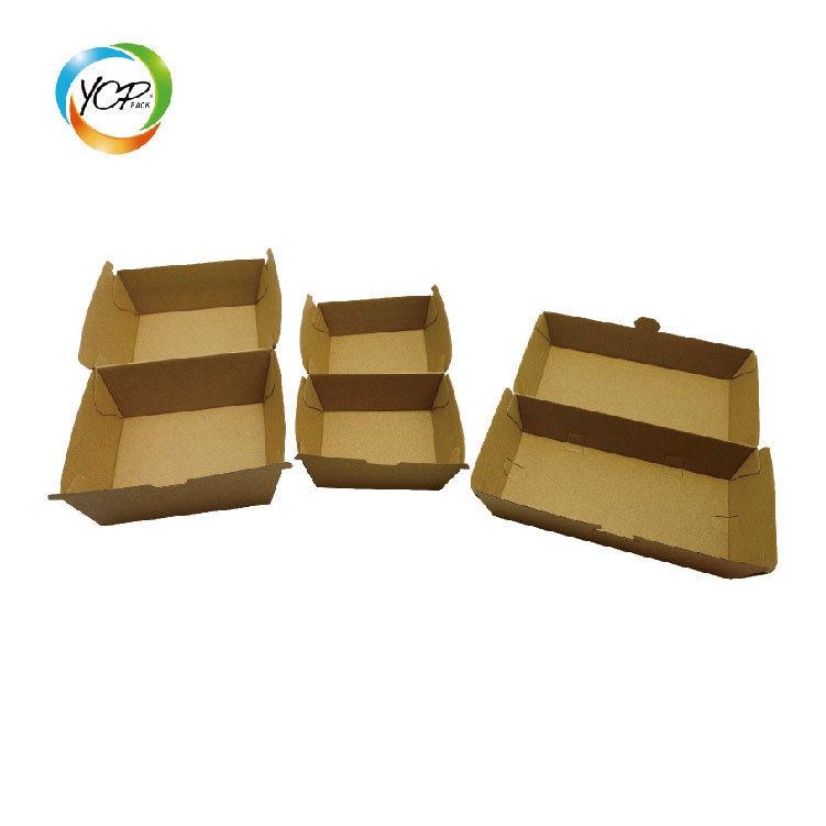 China Disposable Cardboard Burger Box/Paper Meal Boat Tray