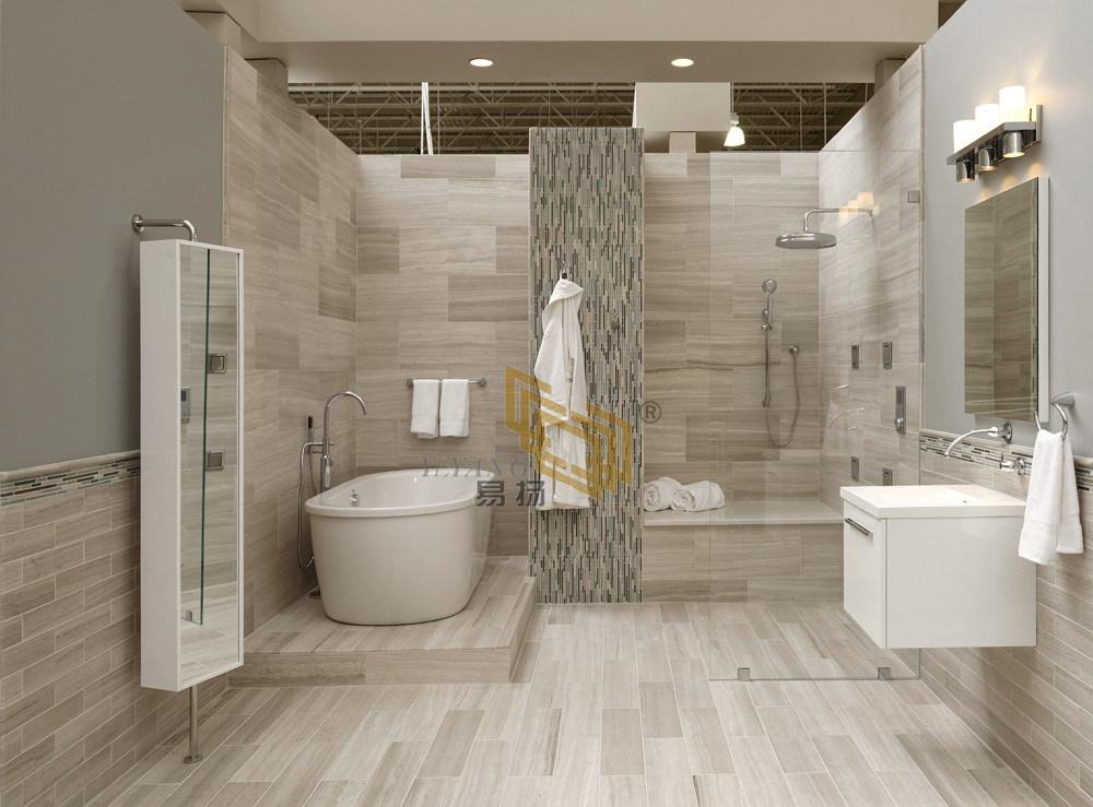 China Beige Wooden White Marble Stone, White Stone Tile Bathroom