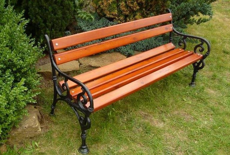 China Durable Public Outdoor Garden Chair Cast Iron Park Bench