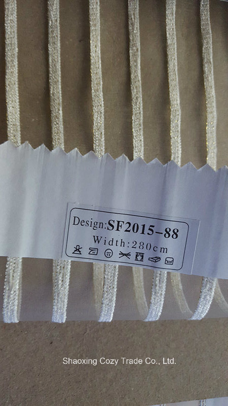 New Fashion Project Stripe Organza Sheer Curtain Fabric 201588