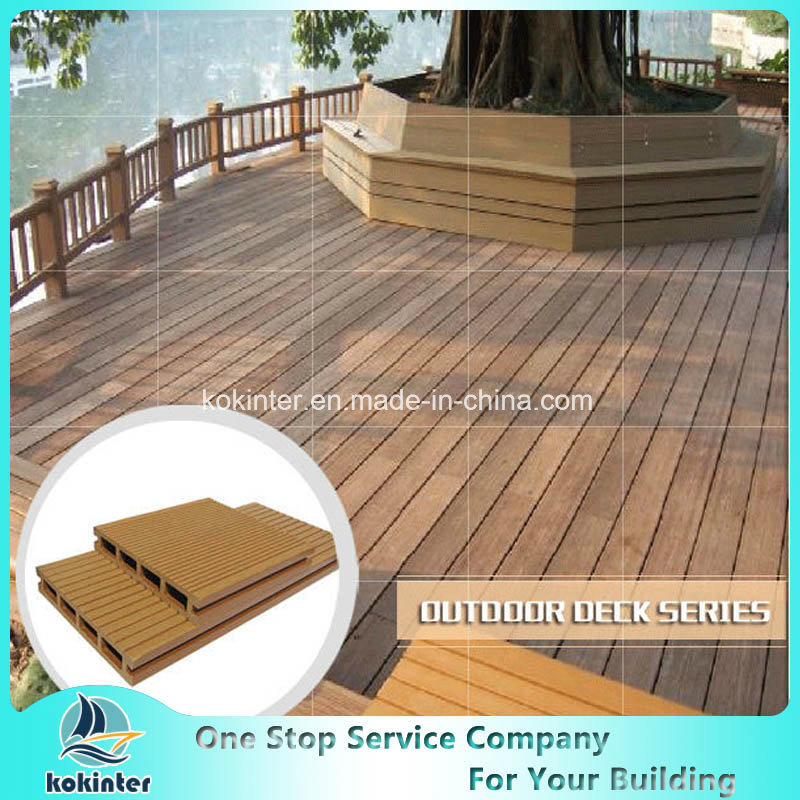 Beach Wood Timber WPC Crack-Resistant Waterproof Decking pictures & photos