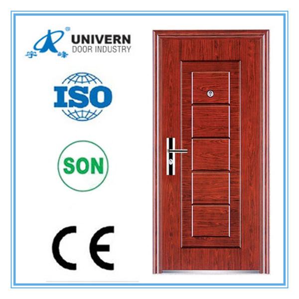 China House Main Design High Quality Red Walnut Security Door   China Metal  Door, Steel Door