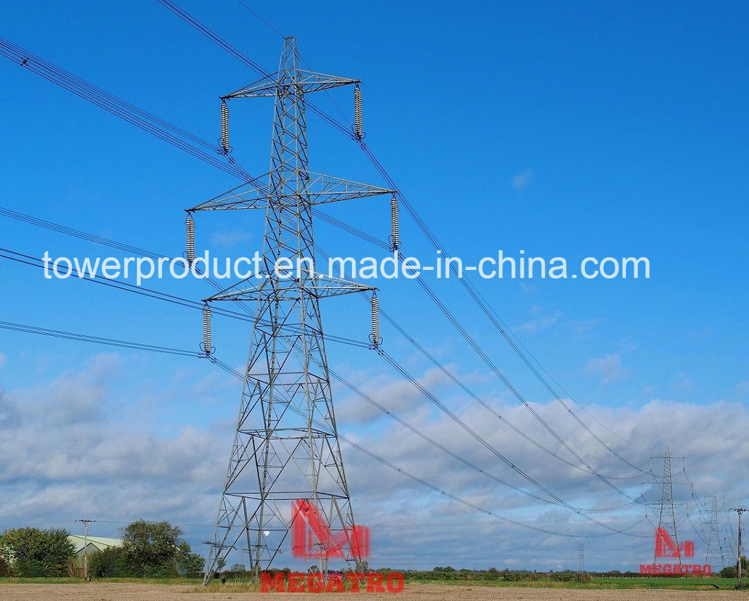 [Hot Item] Megatro 500kv DC Tangent Tower with Single Earth Wire