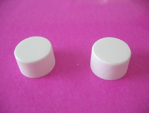 20mm 24mm White Ribbed Screw Caps Without Bottle
