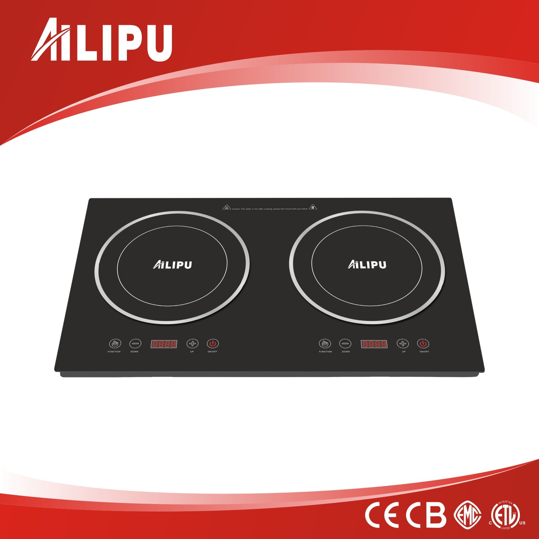 China Cb Ce Roval Double Burner Induction Cooker Cooktop Electric Stove