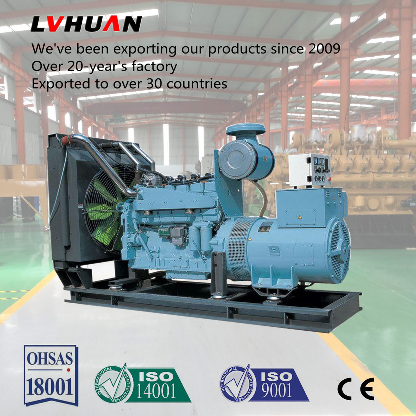 China Continuous Work 500kw Natural Gas Generator Set How Does An Electric