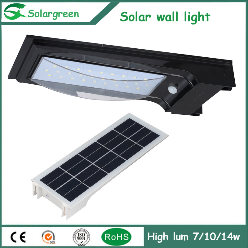 5W Amazon Online Solar LED Wall Lamp Fence Parking Yard Street Garden Light pictures & photos