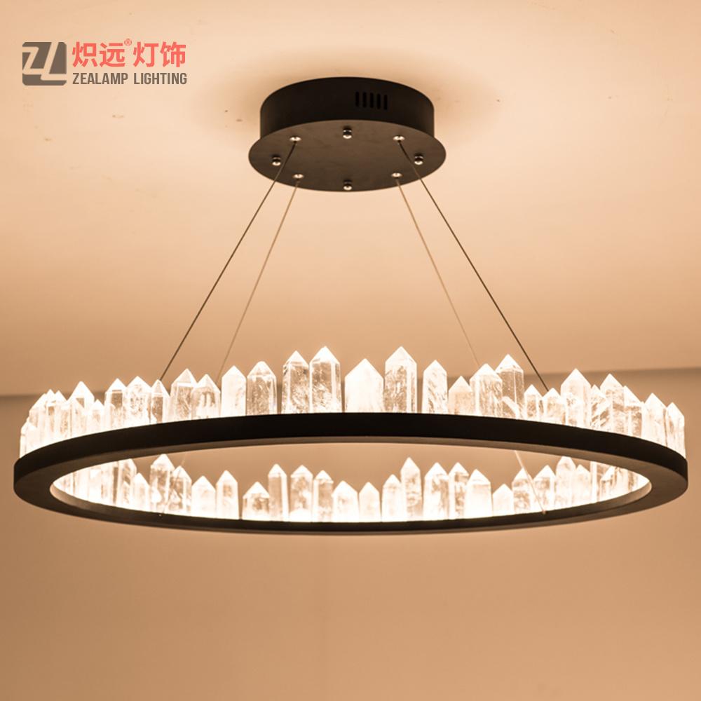 China Contemporary Living Room Office Circle Lamp Decorative Crystal Pendant Lighting China Decorative Lighting Circle Lighting