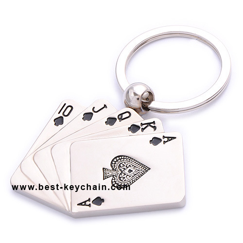 China Souvenir Metal Playing Cards Keychain for Las Vegas USA ...