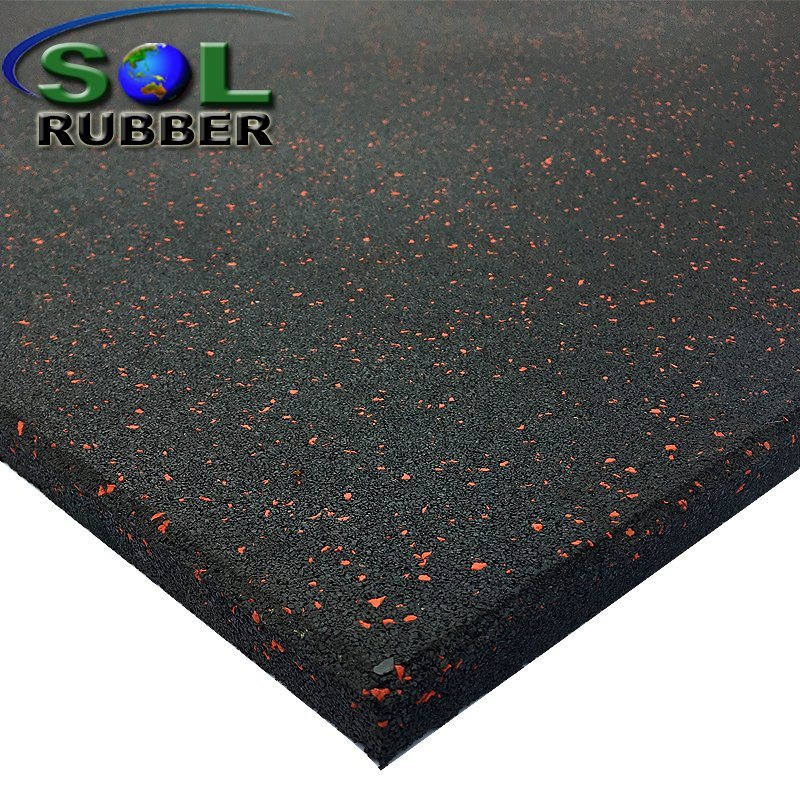 China Reclaimed Rubber High Quality Commercial Gym Flooring Whole Mats