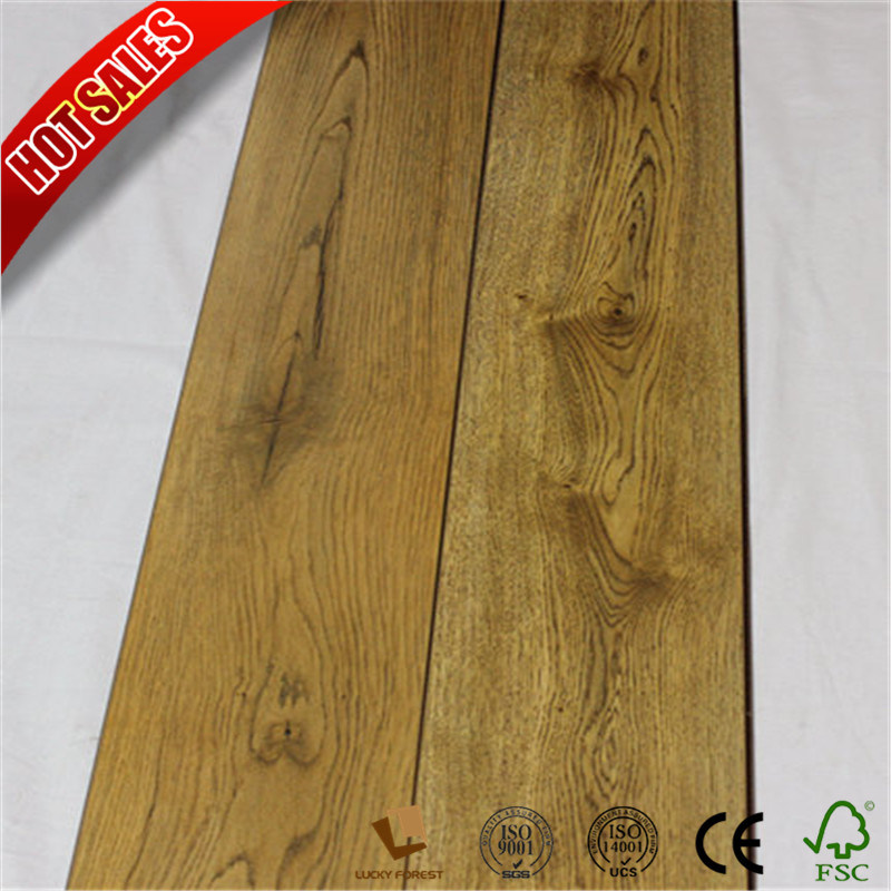 China Best Style Selections Laminate Flooring Beveled V Groove For Home Hardwood Building Material