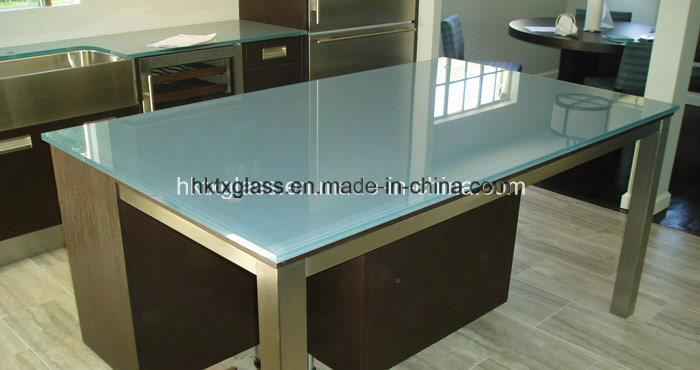 Scratch Proof Glass Table Top / 12mm Frosted Glass Table Top With En12150  Certificate