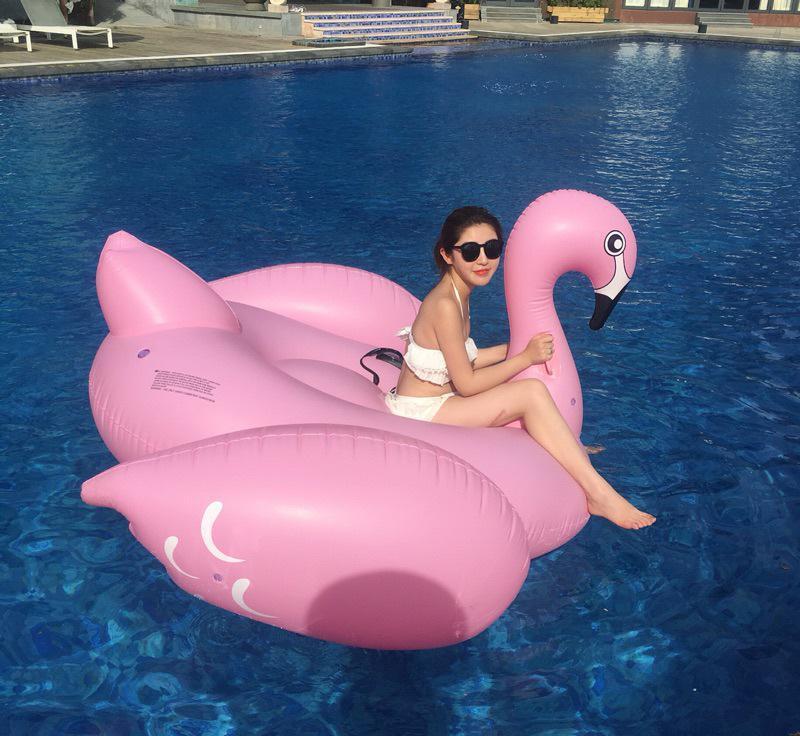China Custom Lovely Animal Shape Flamingo Inflatable Swim Rings for ...