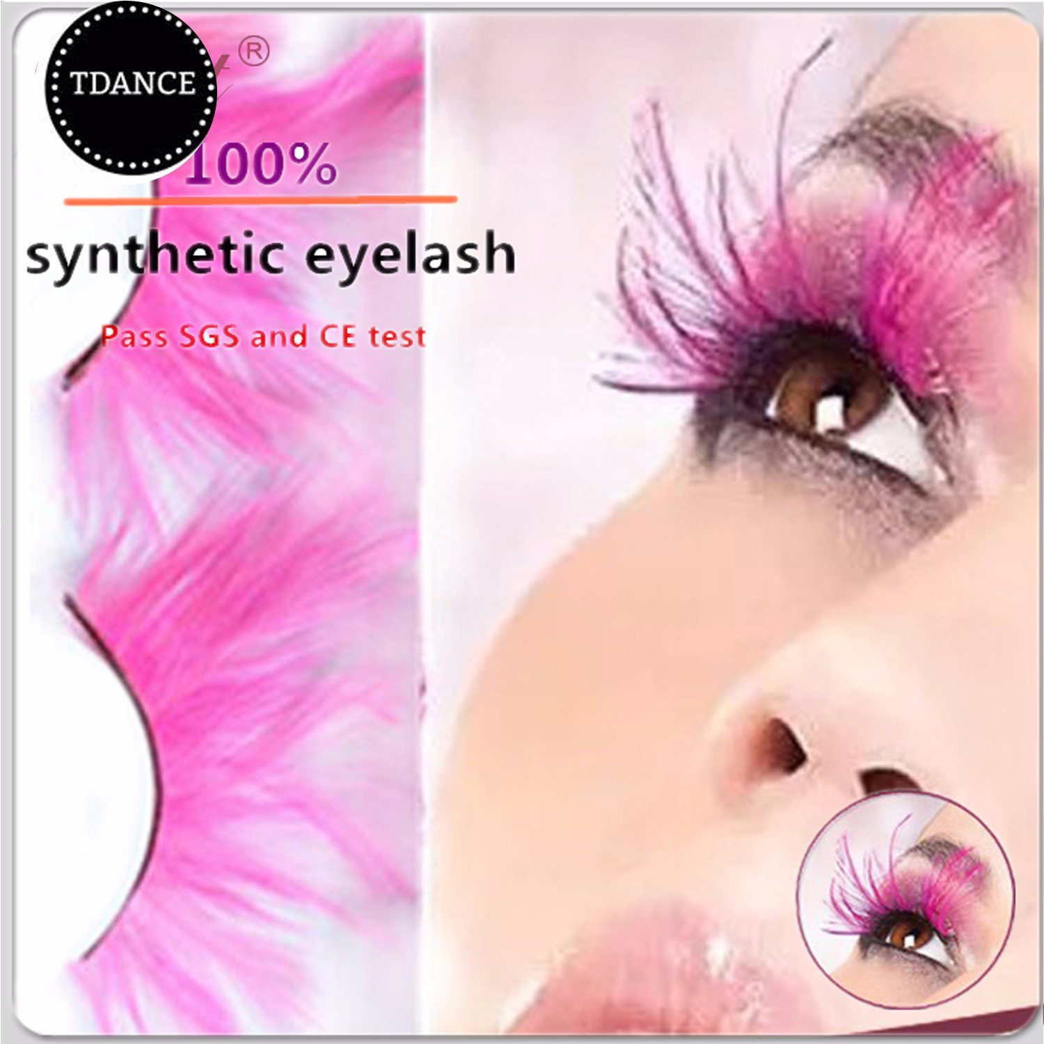 China Pink Crazy Show Party Feather False Eyelashes For Sale Photos