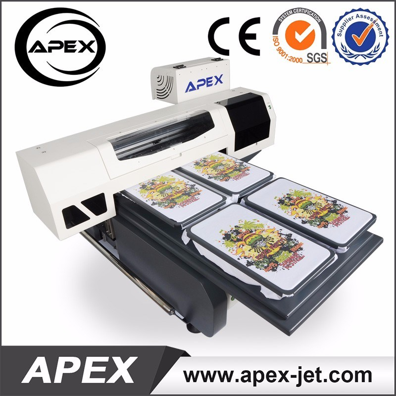 China 6090cm Direct To Garment Digital Flatbed T Shirt Printing Machine For Sale