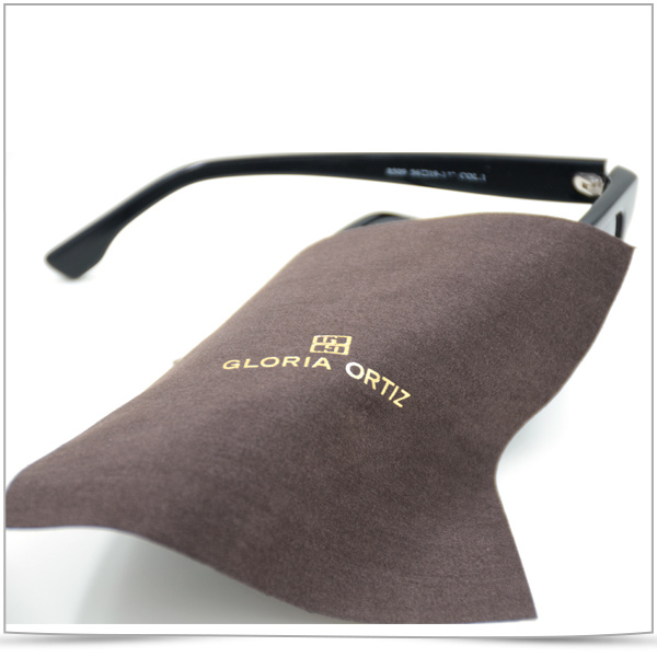 Hot Gold Stamping Ultra Fine Fiber Sunglasses Cleaning Cloth