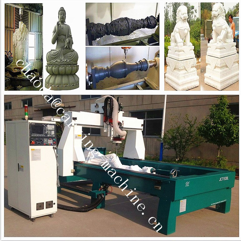 Marble Statue Making Machine / 5 Axis CNC Stone Cutting & Milling Machine pictures & photos