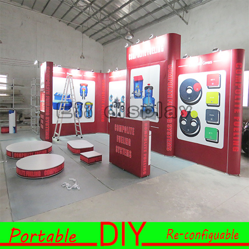 Portable Exhibition Lighting : China customized led portable exhibition display stand for trade