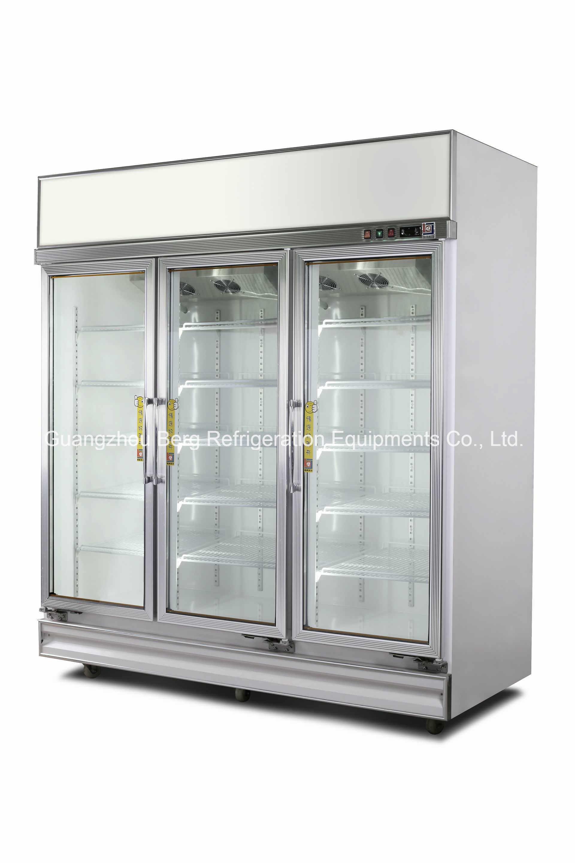 China 4 Door Commercial Glass Door Display Refrigerator La 4fc