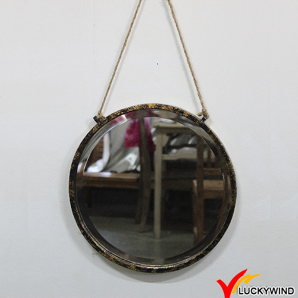 Small Dressing Metal Framed French Vintage Mirror