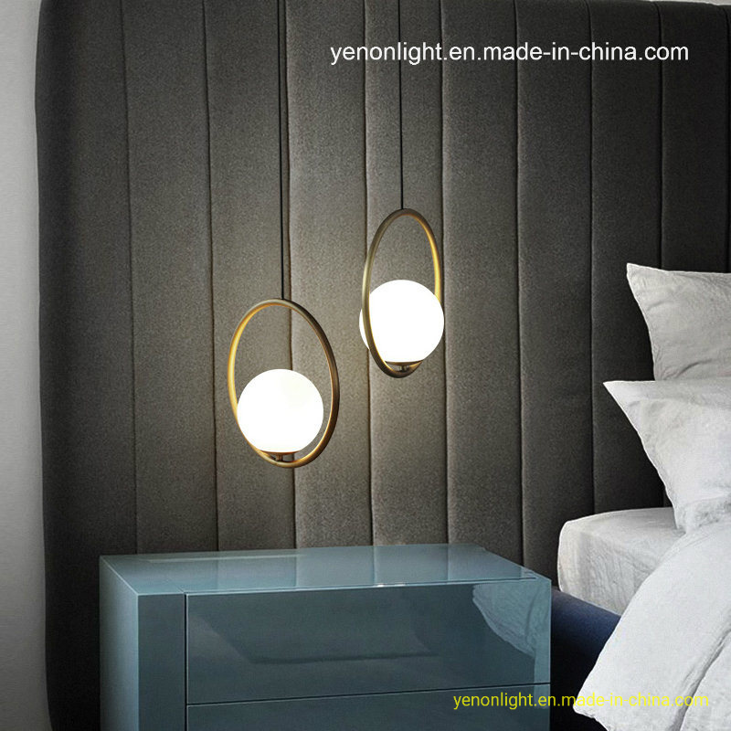 China Suspension Glass Pendant Lighting Simple Bedroom Hanging